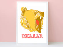 Load image into Gallery viewer, RHAAR Growling Bear Print