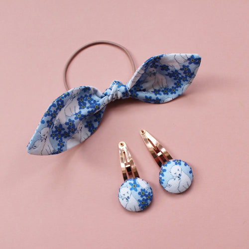 Hair Accessories - Blue Polar bear