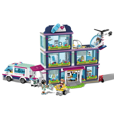 932pcs Friends Heartlake Hospital Building Blocks
