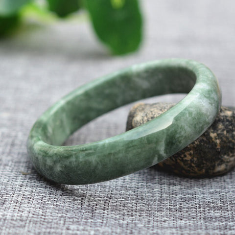 Drop Shipping High Quality Cheaper Natural Green Jade Bracelets Round Bangles For Women Fine Jewelry