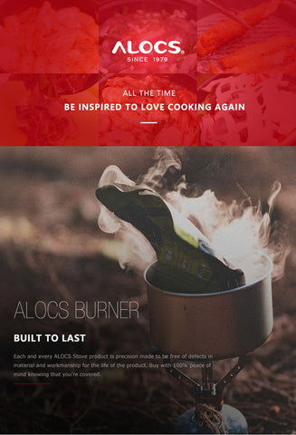 ALOCS CS-B02 CS-B13 Compact Mini Spirit Burner Alcohol Stove with Stand for Outdoor Backpacking Hiking Camping Furnace