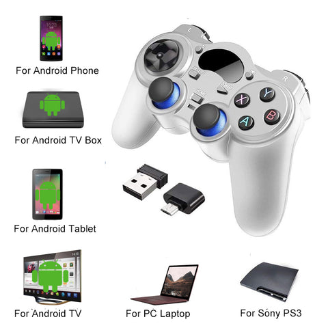 2.4 G Controller Gamepad Android Wireless Joystick Joypad with OTG Converter For PS3/Smart Phone For Tablet PC Smart TV Box