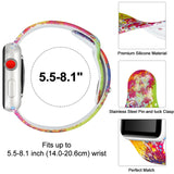 Silicone strap for Apple watch band 42mm 38mm iWatch band 44mm 40mm Printing watchband bracelet Apple watch 4 3 2 1 Accessories