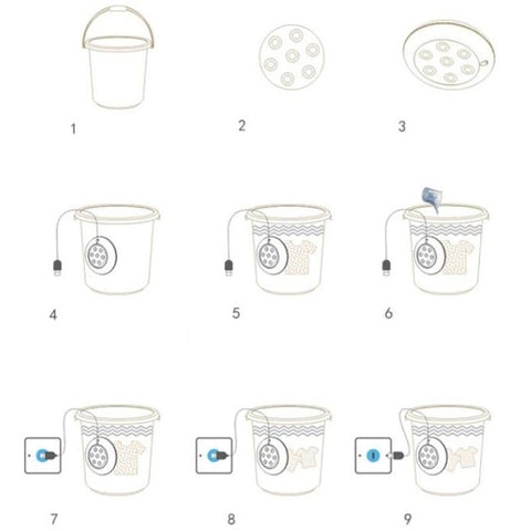 1 Mini Portable Washing Machine