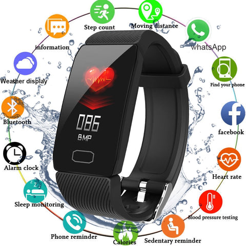 Smart Band Blood Pressure Heart Rate Monitor Fitness Tracker
