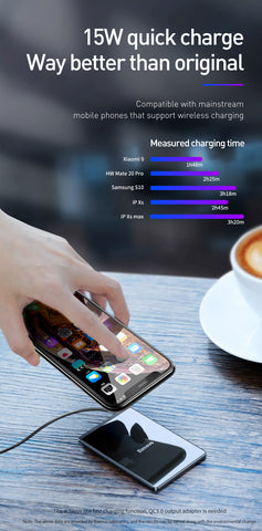 iPhone X Xs ,  Samsung S10 S9 Xiaomi Max Ultra Slim Wireless Charger