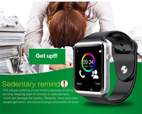 2019 Smart Watch Clock Sync Notifier Support SIM TF Card Connectivity Apple iphone Android Phone Women Men Smartwatch GT08 A1 A6