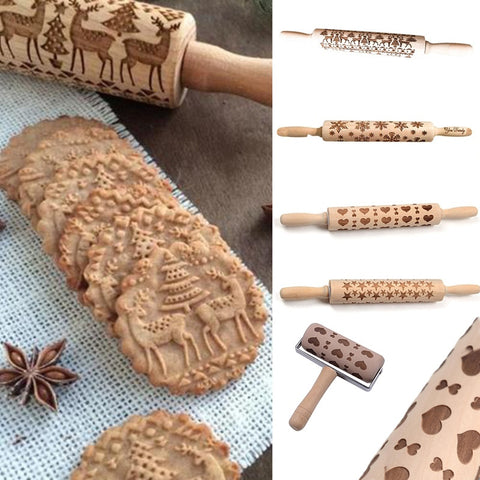 Christmas Embossed Rolling Pin