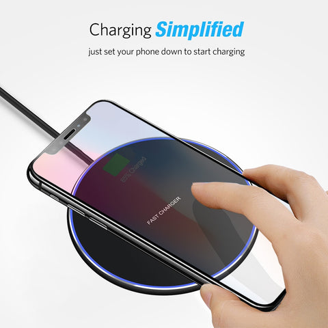 ULTRA FAST WIRELESS CHARGER PAD FOR IPHONE X XS MAX XR 8 PLUS