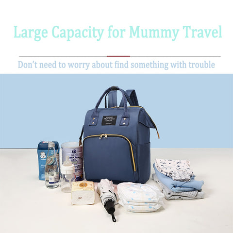 Large Capacity Travel  Baby Diaper Bag