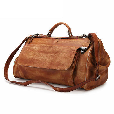 Crazy Horse Genuine Leather Travel Bag
