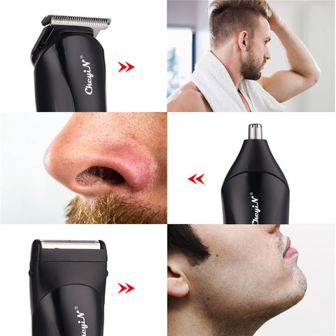 3 in 1 Rechargeable Shaver Hair Trimmer Rechargeable Electric Nose Hair Clipper Professional Beard Razor Haircut Cutting Machine