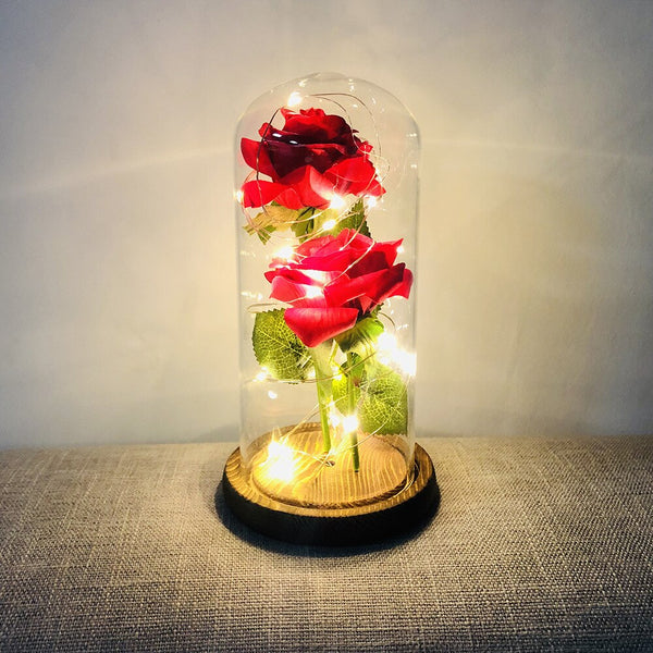 Beauty And The Beast Rose - Enchanted Rose Lamp