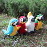 25cm simulation plush parrot bird plush stuffed doll children toy decoration simulation plush toy children Christmas party gift