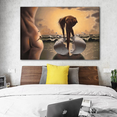 Sexy Girl Birth From Eggs Canvas