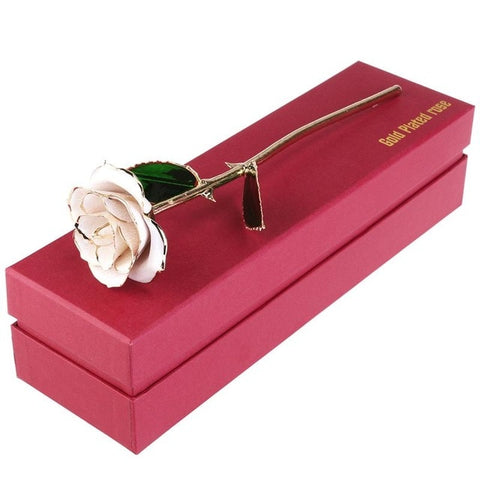 Brand New 24k Gold Plated Rose with Gift Packing Box For Valentine's Day Birthday Mother's Day Anniversary Gift