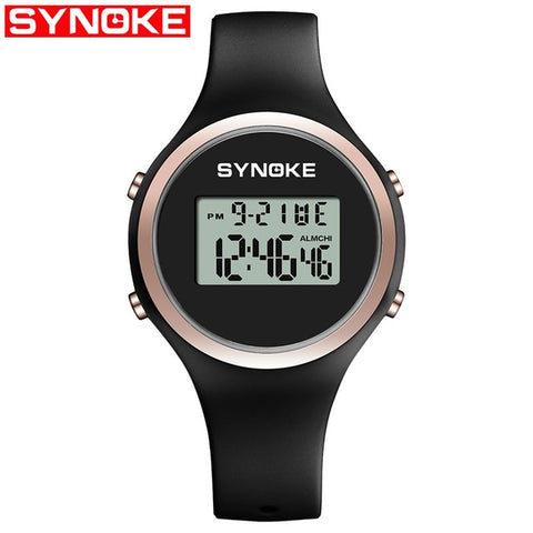 SYNOKE Digital Watch Women Silicone Watch Lady LED Display Waterproof Womens Watches Fashion Womens Wristwatches Sports Watches