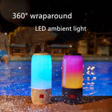 Colorful Lamp Bluetooth Speaker Outdoor Mini Portable Wireless Music Speakers Card Small Subwoofer Columns Altavoz F4075A