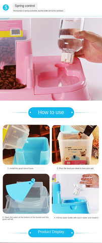 Dogs/Cats Food Bowl, Automatic Drinking Water And Pet Feeder