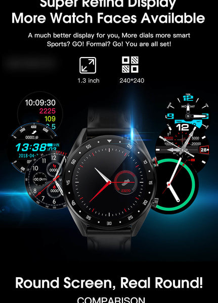 New 2020 Smart Watch  For Mens WaterProof, BlueTooth Heart Rate Blood Pressure Monitor Bracelet