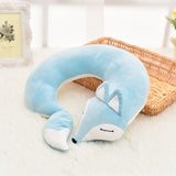 Cute Valentine's Day Gift Fox Cotton Plush U Shape Neck Pillow Travel Car Home Pillow Nap U Shape Pillow for Flight Plane Travel
