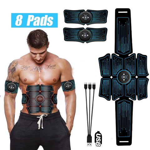 Electrostimulation Muscle Stimulator EMS Abdominal Vibrating Belt ABS Muscular Hip Trainer Massage Home Gym Fitness Equipment