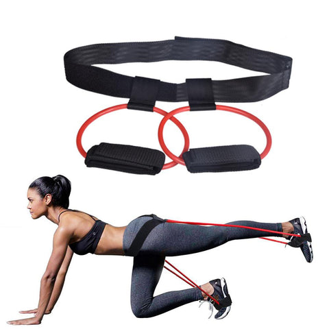 Fitness Booty Bands Set Resistance Bands for Butt Legs Muscle Training Adjust Waist Belt Elastic Bands Pedal Exerciser Workout