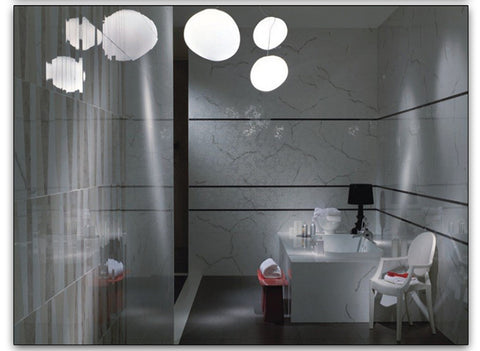 LED White Stone Glass Droplights
