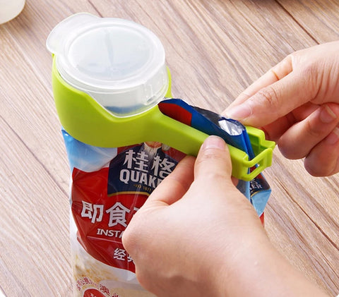 Utility Healthy Food Sealing Clip with Discharge Nozzle