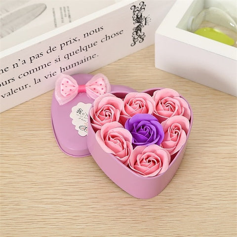 Handmade Luxury Heart-Shaped Rose Bear Gift