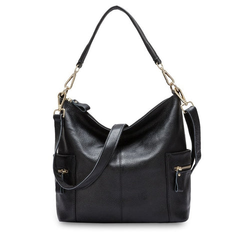 Leather Charm Women Shoulder Bag