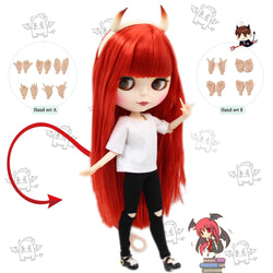 Blythe doll Combination Red Little Devil