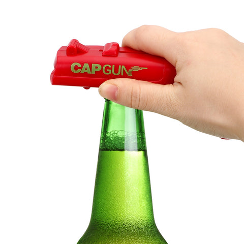Creative Cap Gun Launcher Shooter Bottle Opener,Beer Openers - Shoots Over 5 Meters