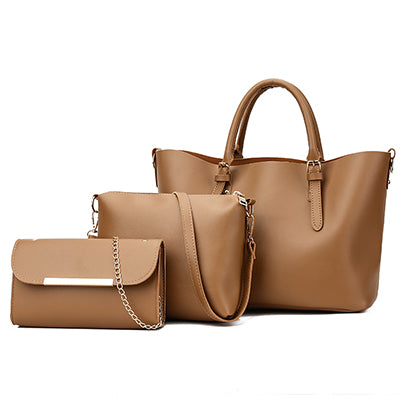 3Pc Women Leather Handbags