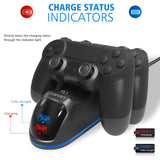 Dual PS4 Controller Charging Dock Station