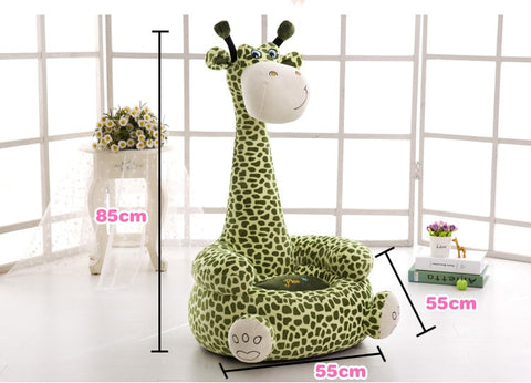 Plush Children's Chair Giraffe Brown Kids Seat Sofa Non-slip Armchair