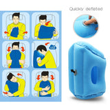 Travel Air Inflatable Soft Cushion Foldable Neck Pillow