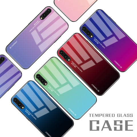 Gradient Tempered Glass Phone Case For Huawei