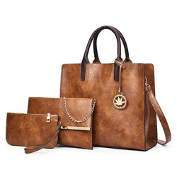 3Pc Large Casual Tote Handbag