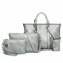 4 Piece Tote Women Leather Bag Set