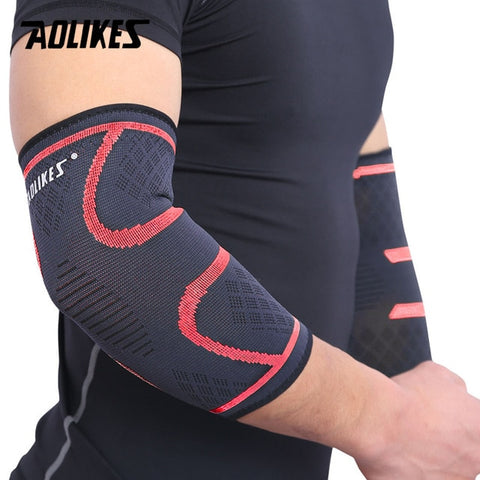 AOLIKES 1PCS Elbow Support Elastic Gym Sport Basketball Arm Sleeve Elbow Brace Elbow Protective Pad Absorb Sweat Sport