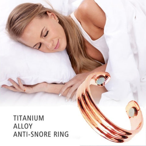 Anti Snore Ring Magnetic Therapy Acupressure Treatment Against Snoring Device Snore Stopper Finger Ring Sleeping Aid #287869