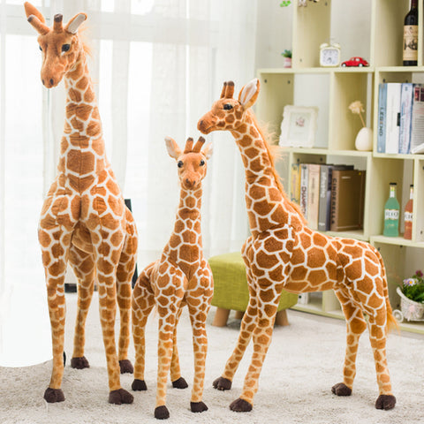 Cute Huge Giraffe Plush Toys Lifelike Cartoon Animals Stuffed Dolls Real Simulation Deer Soft Toys For Christmas Gifts