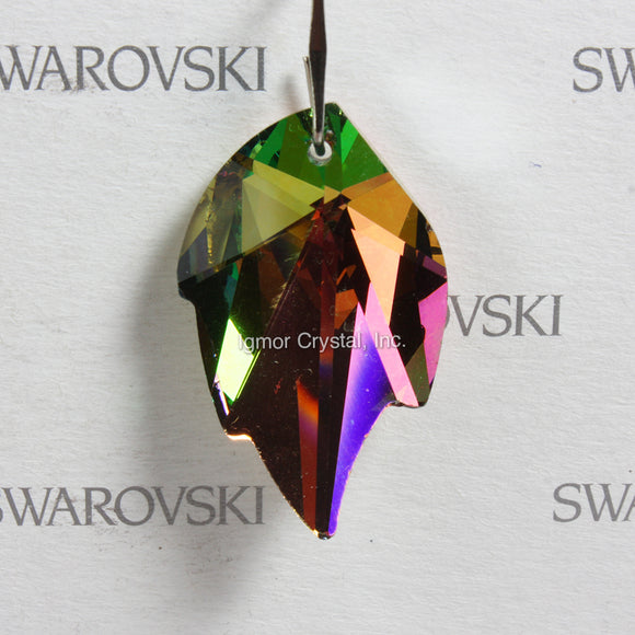 SWAROVSKI® STRASS 8805-32MM Leaf Pendant *Vitrail Light* (5PCS)