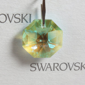 SWAROVSKI® STRASS 8015-14MM 1-Hole Lily Octagon *Light Peridot/Blue AB* (50PCS)