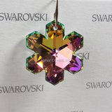 SWAROVSKI® STRASS 8811-30MM 1-Hole Snowflake Pendant *Vitrail Light* (4PCS)