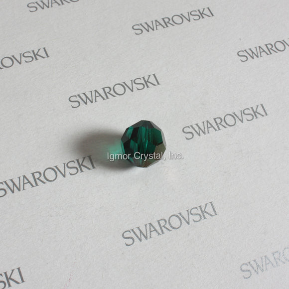 SWAROVSKI® STRASS 8502-10MM Faceted Crystal Bead *Emerald/Teak* (63PCS)