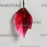 SWAROVSKI® STRASS 8805-32MM Leaf Pendant *Bordeaux* (5PCS)