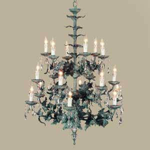 Crystal, Green Chandelier