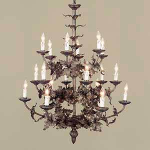 Large Regal Leaf Chandelier